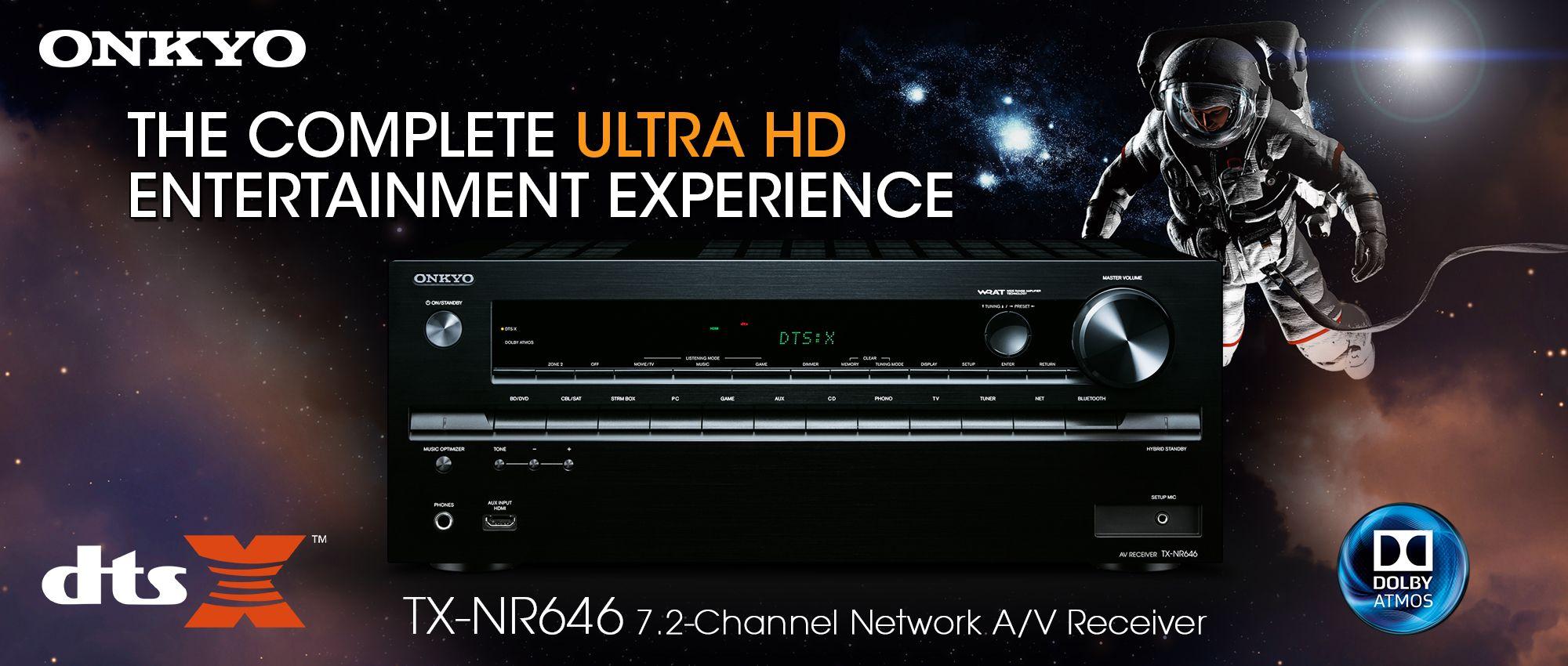 Onkyo TX-NR646 home theater receiver