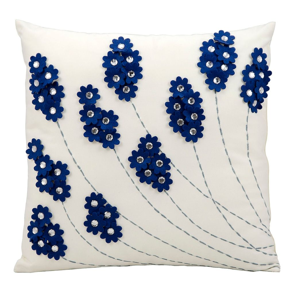 Fl Jeweled Outdoor Throw Pillow