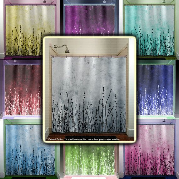 This Bathroom Willow Twigs Tree Branch Grass Sticks Shower Curtain Is  Imprinted With My Own Digital