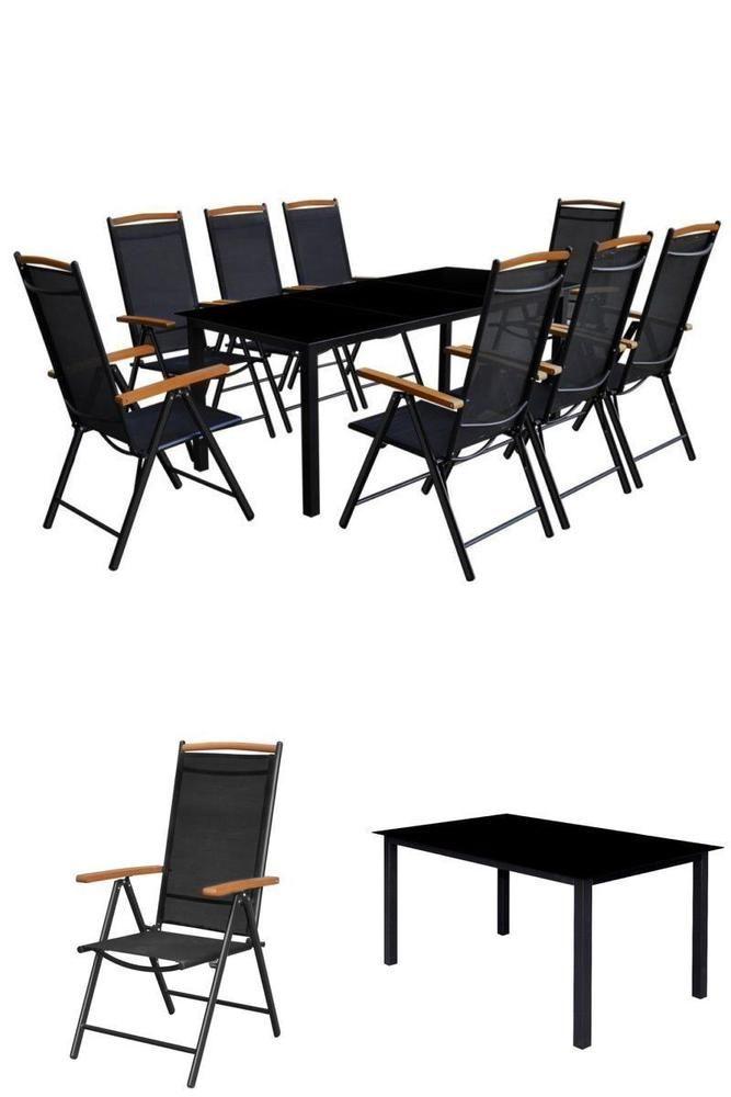 Metal patio dining furniture set garden outdoor table 8 recliner metal patio dining furniture set garden outdoor table 8 recliner folding chairs watchthetrailerfo