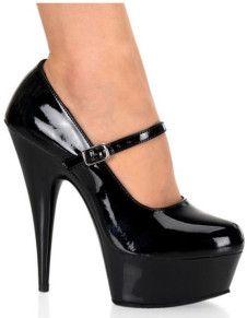 Zapatos de charol negro con plataforma y cordones de tacón alto de 14.5 cm YcLfRW
