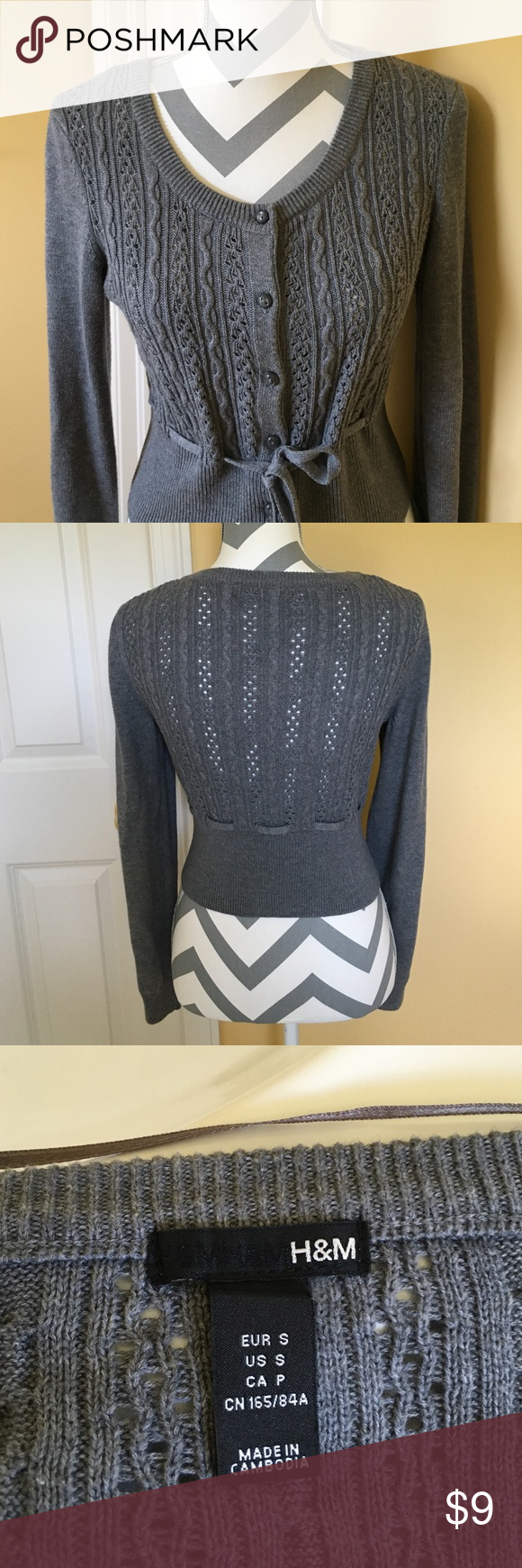 Grey H&M cardigan Super cute and comfortable grey cardigan, worn a few times, in perfect condition. Size S. H&M Sweaters Cardigans