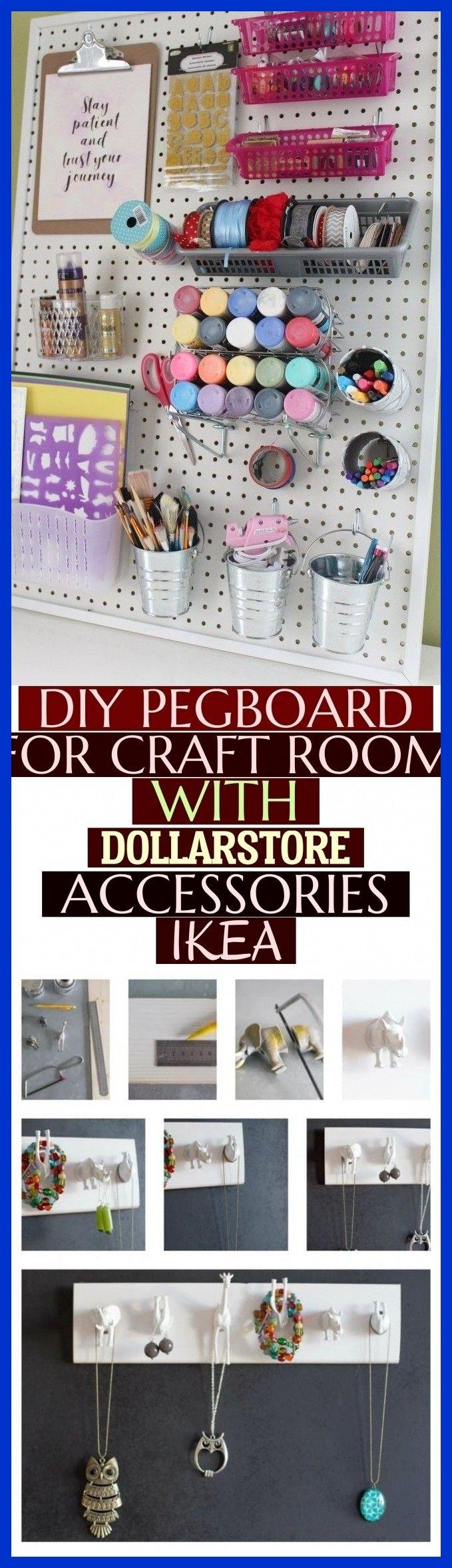 Mehr als 25 Diy Pegboard für Bastelraum mit Dollarstore Zubehör – Ikea – # …