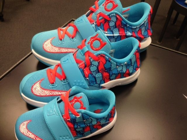 ceb43347eef Nike KD VII 7 Frozen Clearwater Blue Lagoon Crimson IceCream Popsicle Size  5C-7Y  Nike  Athletic