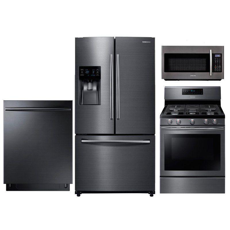 Samsung Gas Kitchen Appliance Package With Gas Range Black Stainless Steel 1000 In 2020 Gas Kitchen Appliances Kitchen Appliance Packages Kitchen Appliances