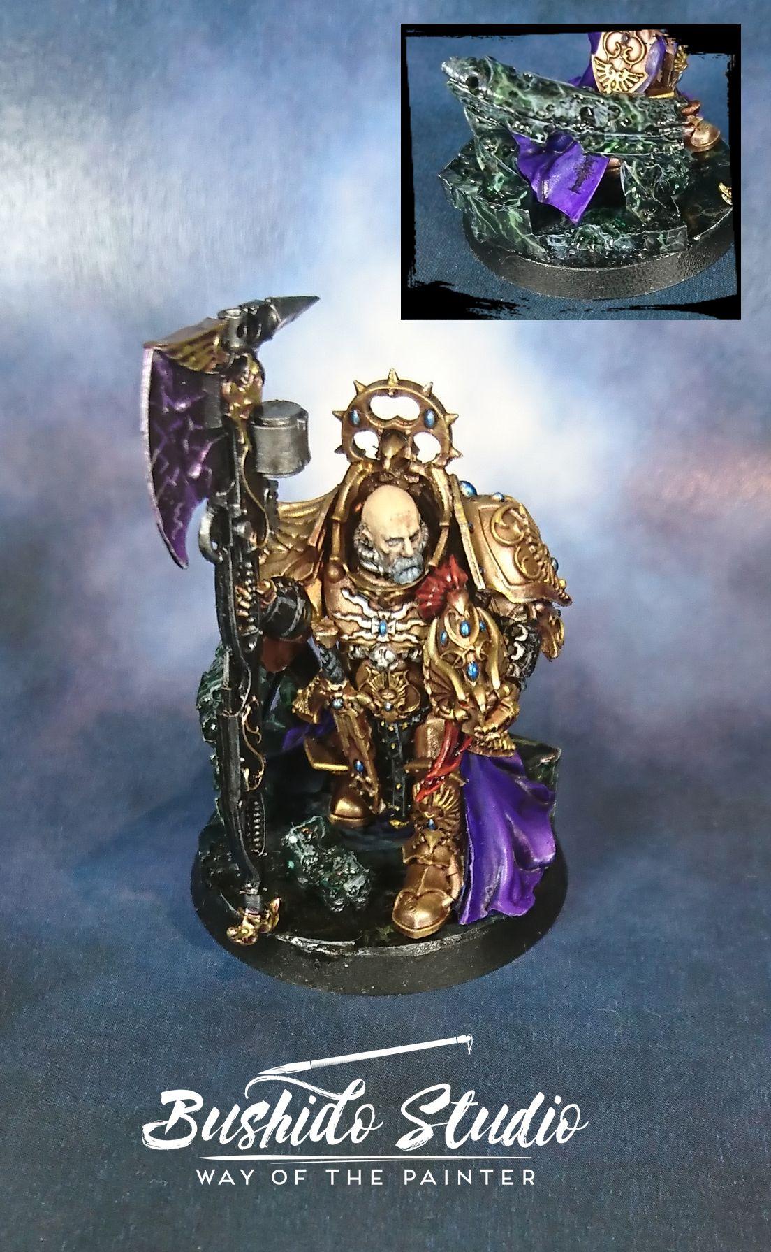 Warhammer 40k 30k Custodes Tribune Marble Gold Miniature