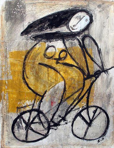 'Girl On Bike' by Scott Bergey