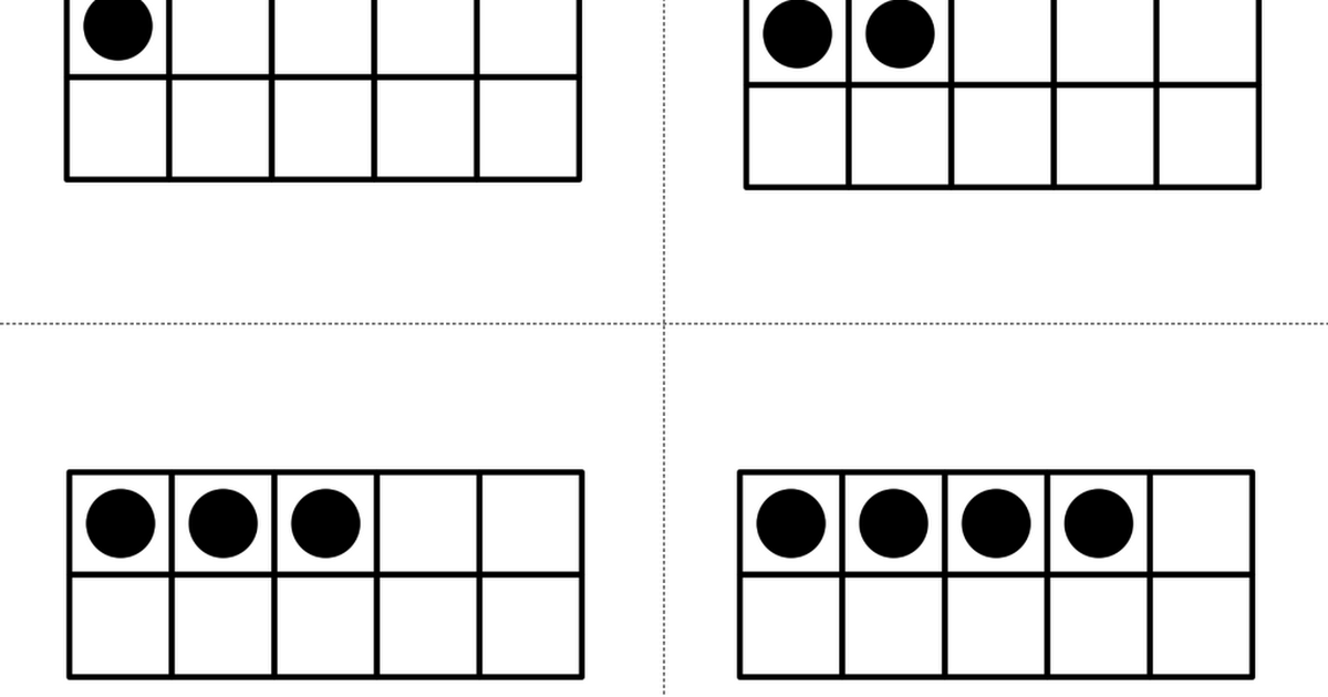Basic Ten Frame Flash Cards.pdf | Math | Pinterest | Math, Ten ...