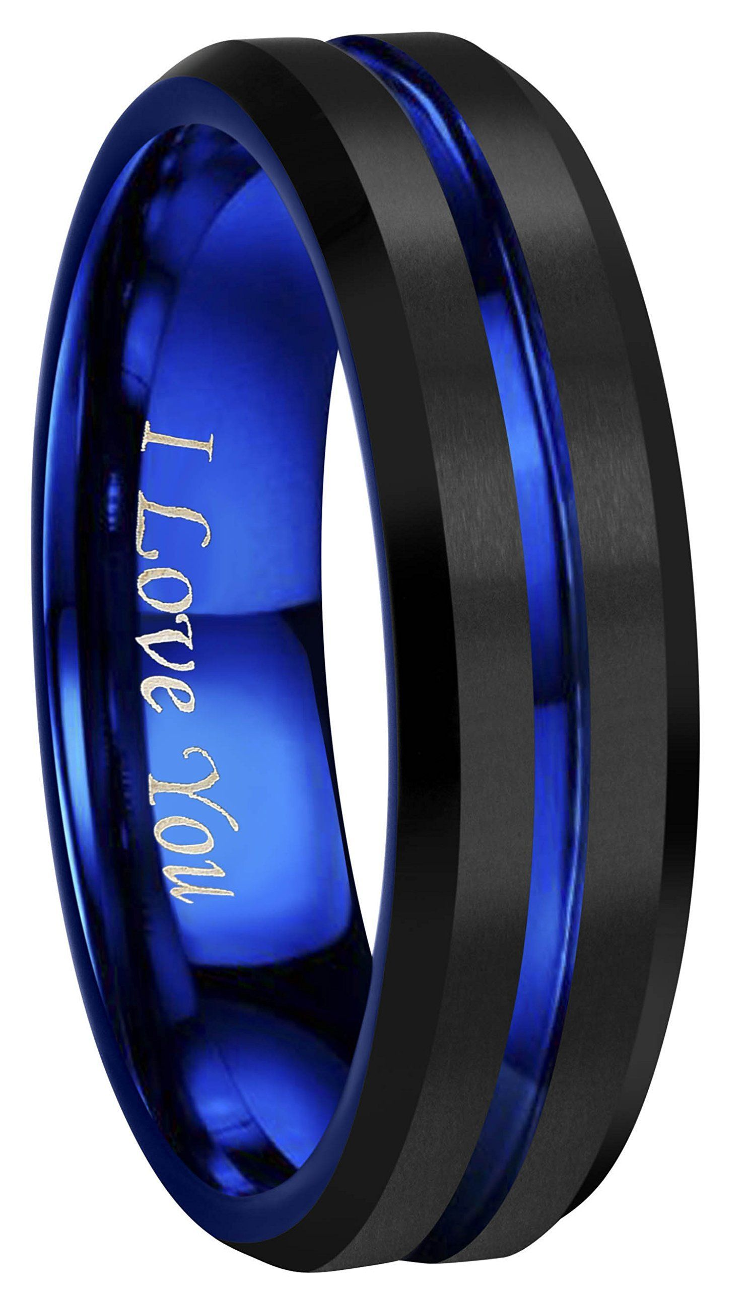CROWNAL 4mm 6mm 8mm 10mm Blue Groove Black Matte Finish