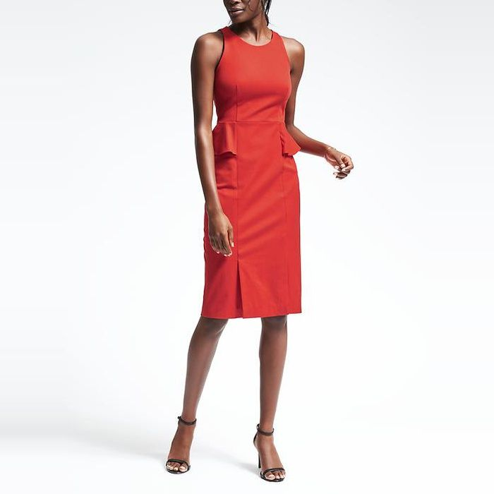 10 Best Sheath Dresses 4 Banana Republic Bi Stretch Side Peplum
