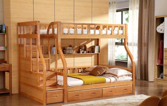Litera moderna cama literas ni os de madera de abedul cama - Literas para bebes ...