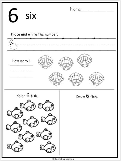 Summer Kindergarten Number Worksheets Practice Number 6 Madebyteachers Kindergarten Worksheets Numbers Kindergarten Social Studies Worksheets