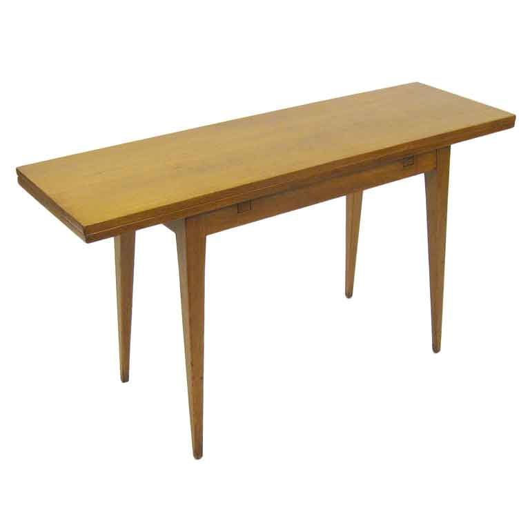 Fliptop consoledining table by Ed Wormley for Dunbar From a