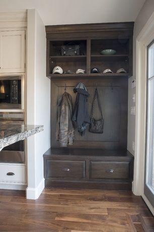 Cottage mud room with crosley brennan entryway bench & shelf (set ...