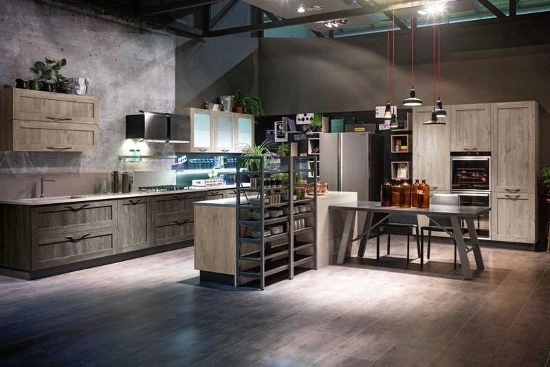 City Urban Look di Stosa Cucine: atmosfera loft dal gusto industrial ...