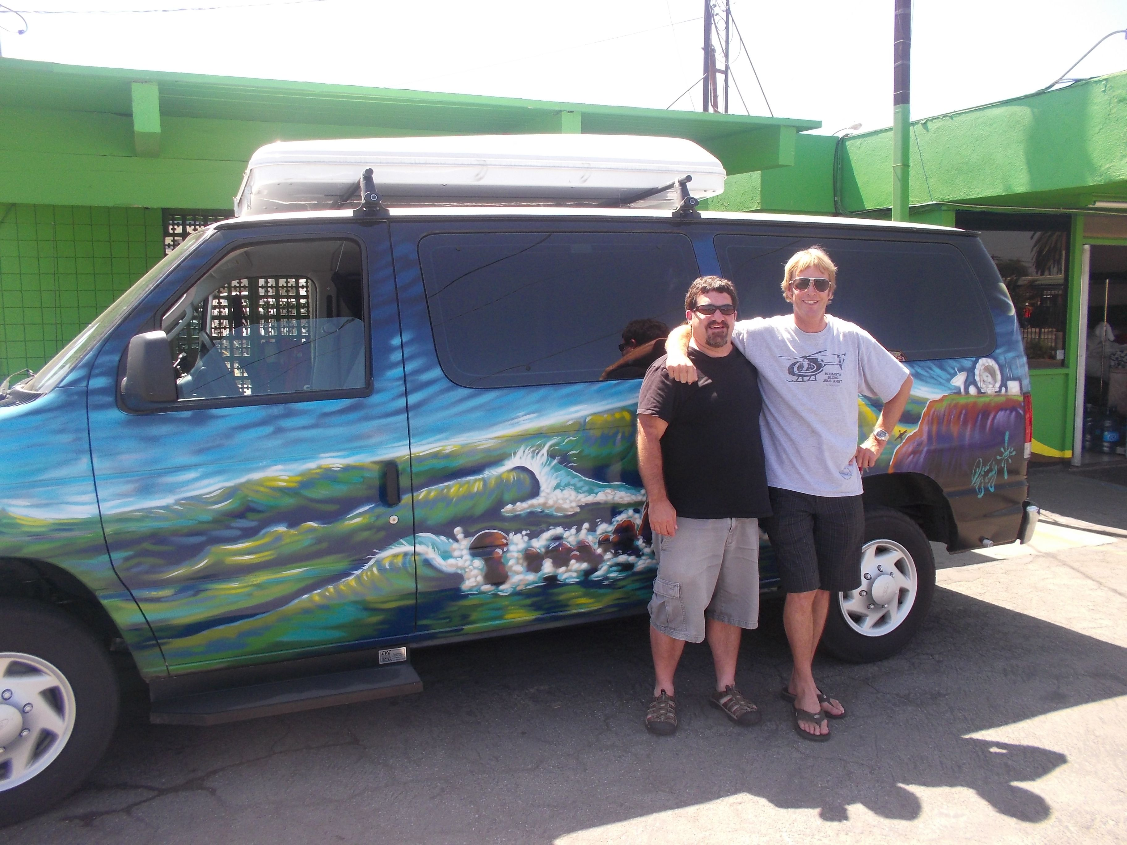 Bakpak Dave Hanging With Andrew Co Owner Of Escape Campervans Thats A Mavericks