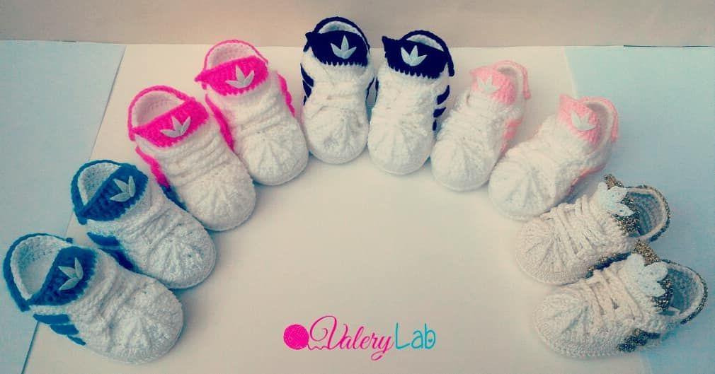 Scarpine Uncinetto Baby Shoes Crochet Babyshoes Handmade Cute