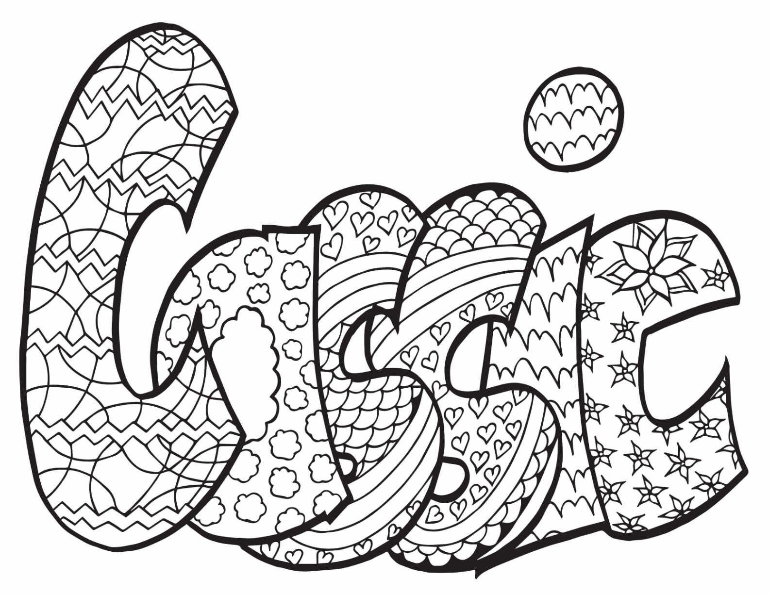 CASSIE Two Free Printable Coloring Page in 2020 Free