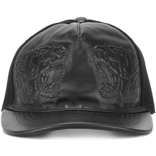 9645a26a450 Gucci tiger embossed baseball cap ( 385) ❤ liked on Polyvore featuring  accessories