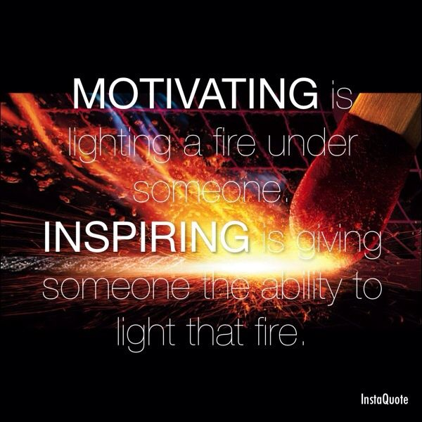 Inspiration an someone is who What to