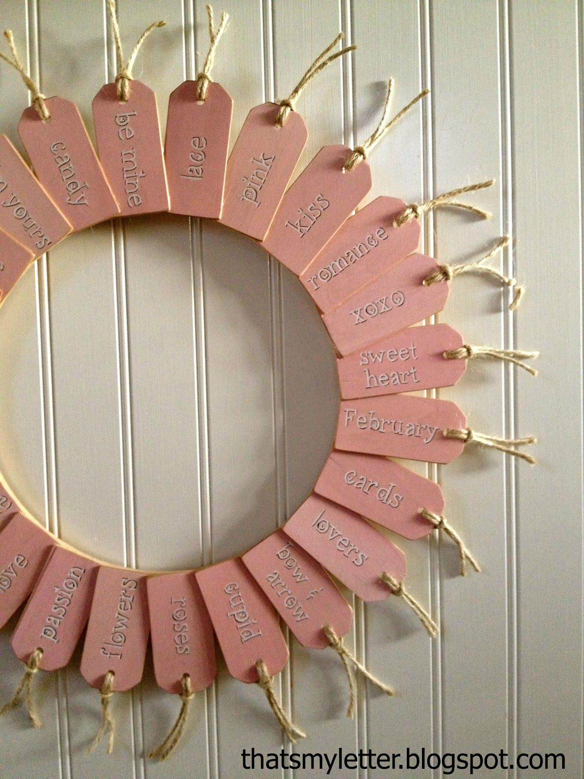"""That's My Letter: """"W"""" is for Wood Tag Wreath"""