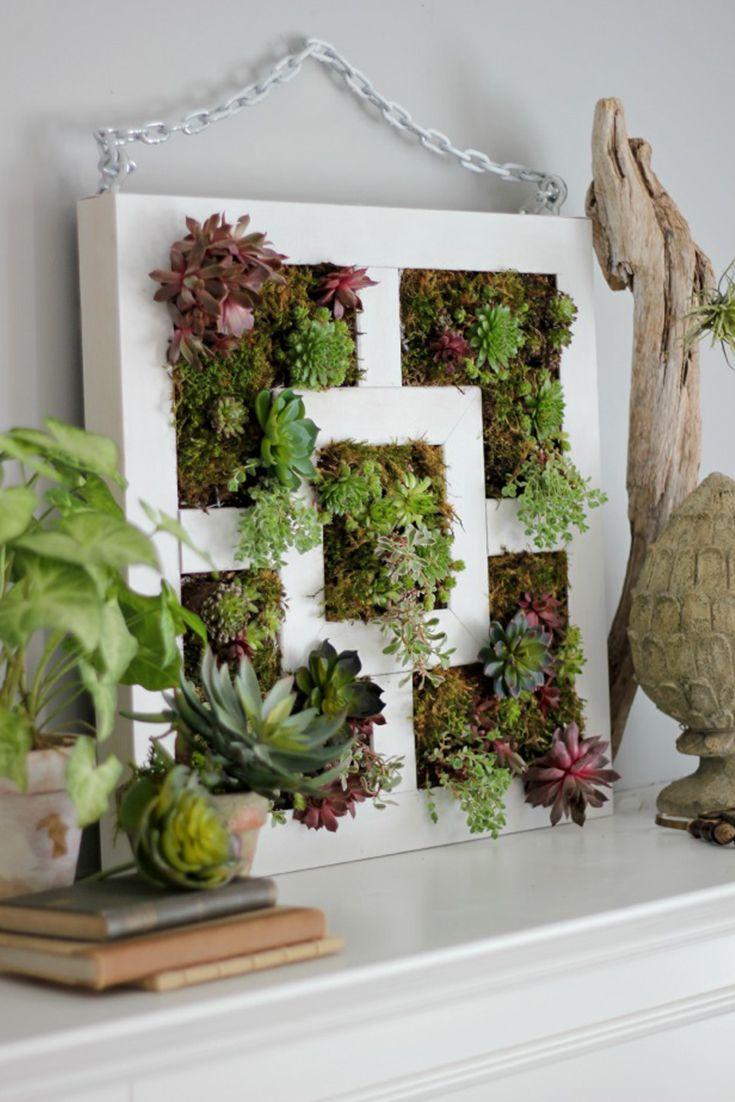 d couvrez comment cr er un magnifique jardin vertical partir d une table d appoint lack. Black Bedroom Furniture Sets. Home Design Ideas