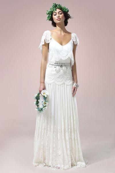 foto 6 de 22) eve: vestido de novia estilo bohemio y confeccionado