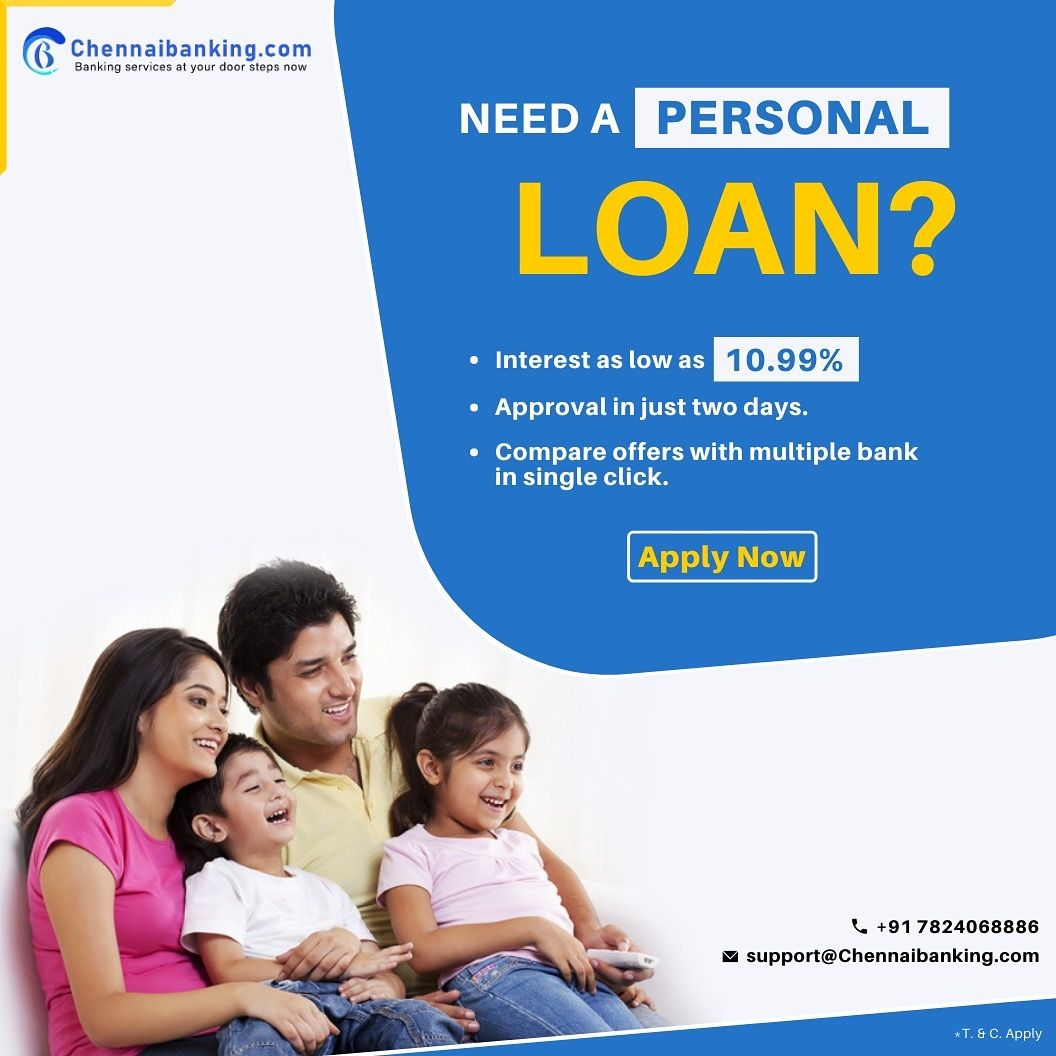 Personal Loan In Chennai Call 7824068886 Or Visit Www Chennaibanking Com To Know Offers Personal Loans Loan Person
