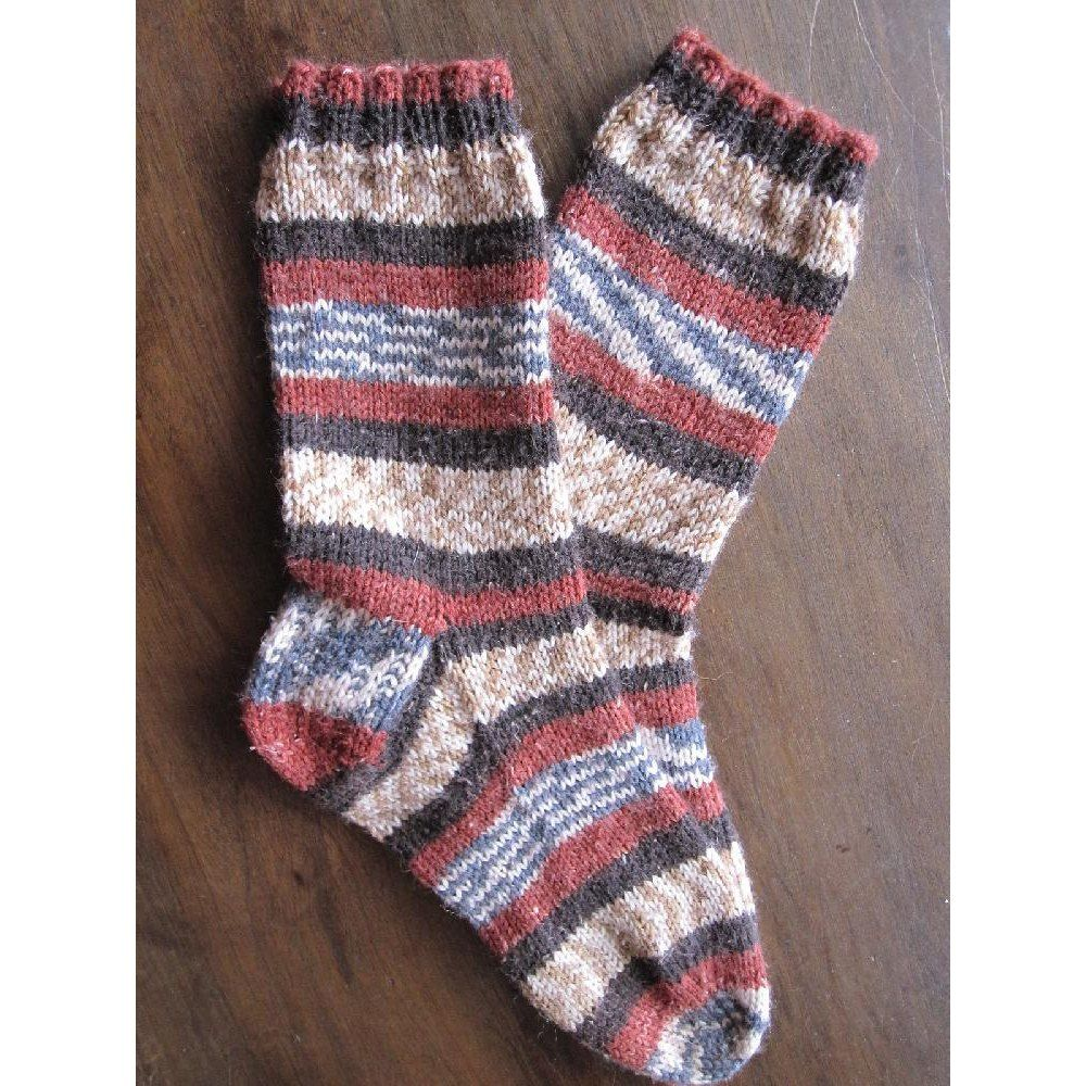 This is a very basic top-down sock pattern whose intent is to guide ...