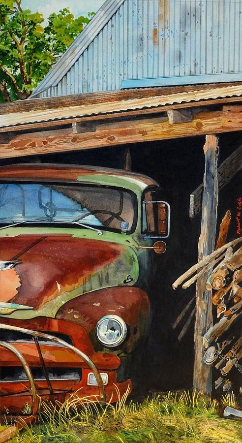 Sams Truck By Robert W Cook Truck Art Car Painting Art Cars