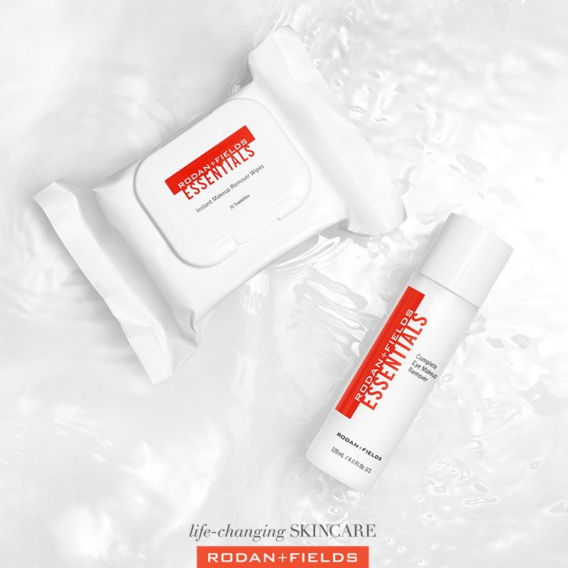 Two New Essential Products Available Now Makeup Removing Clothes And Eye Makeup Remover Start Your Regimen Wi Rodan And Fields Makeup Wipes Makeup Remover