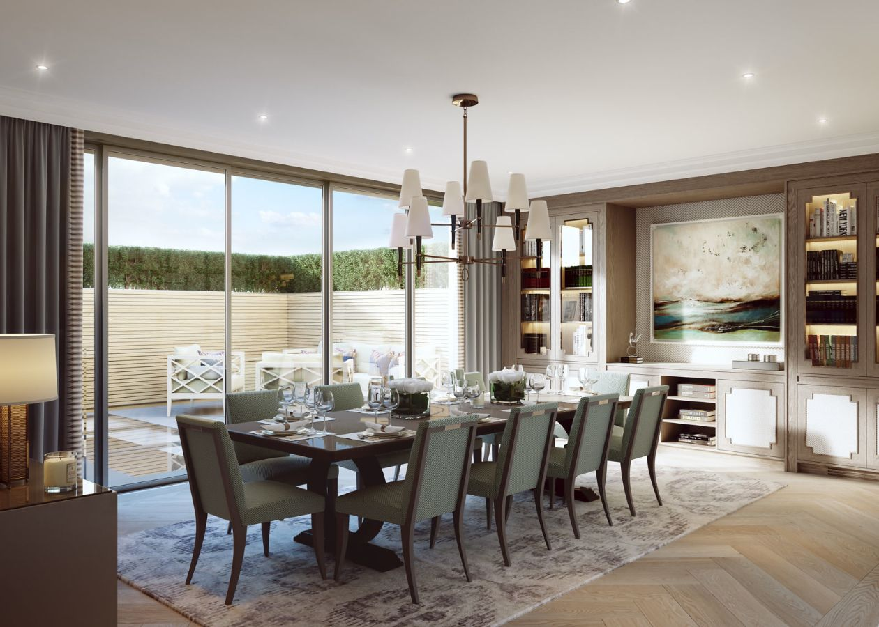 Knighton Place Knightsbridge Finchatton Luxury Dining Room