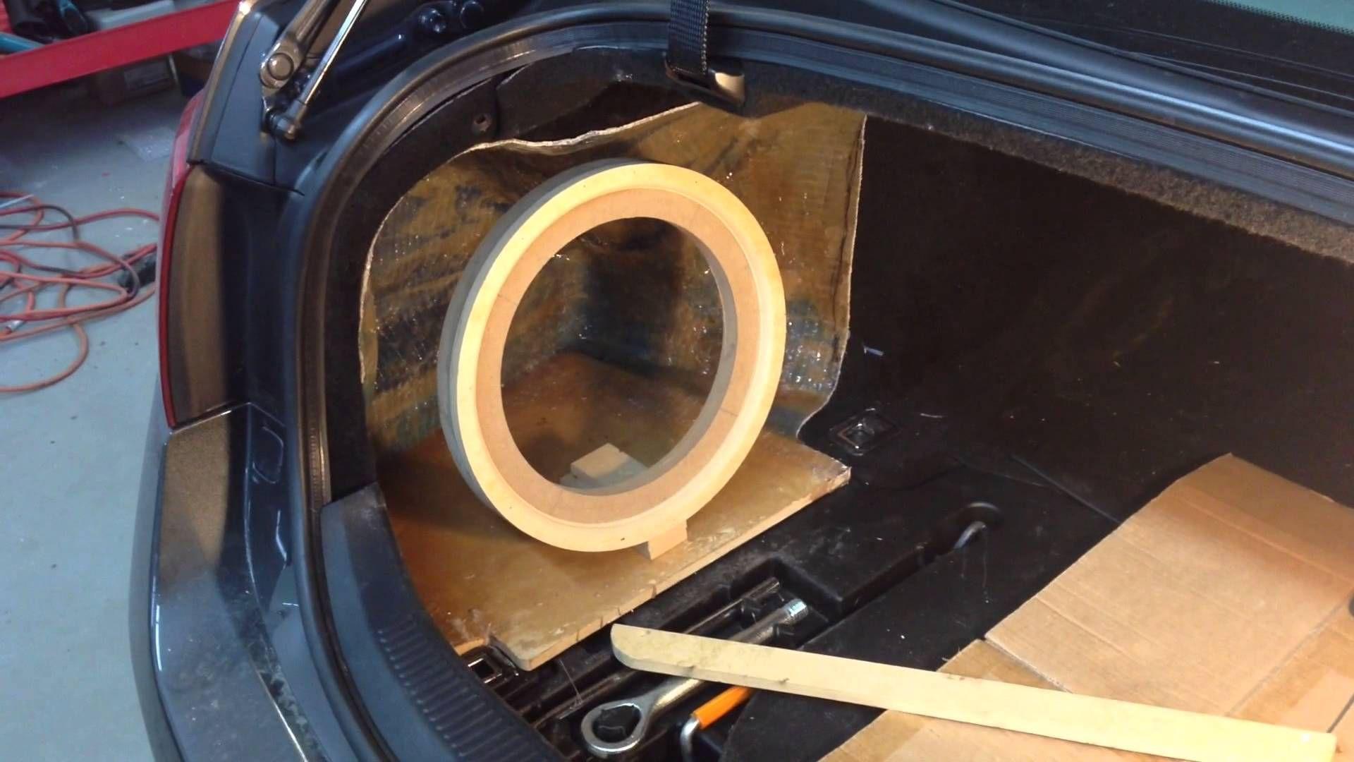 Lexus gs fiberglass subwoofer box part 1 youtube