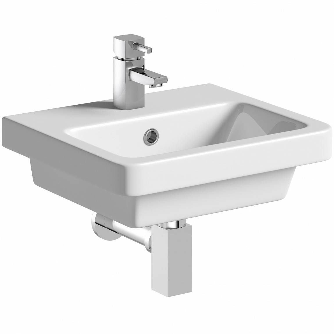 Mode Cooper 1 Tap Hole Wall Hung Basin 400mm With Waste Back To Wall Toilets Wall Mounted Basins Small Basin