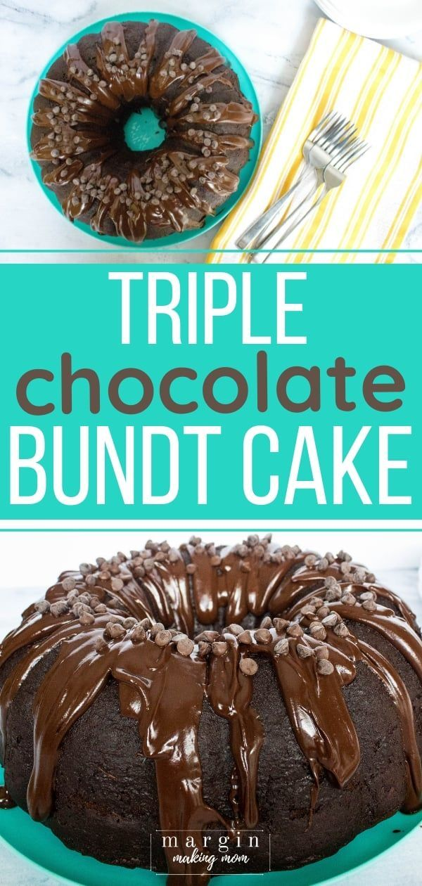 Decadent Triple Chocolate Bundt Cake from a Mix