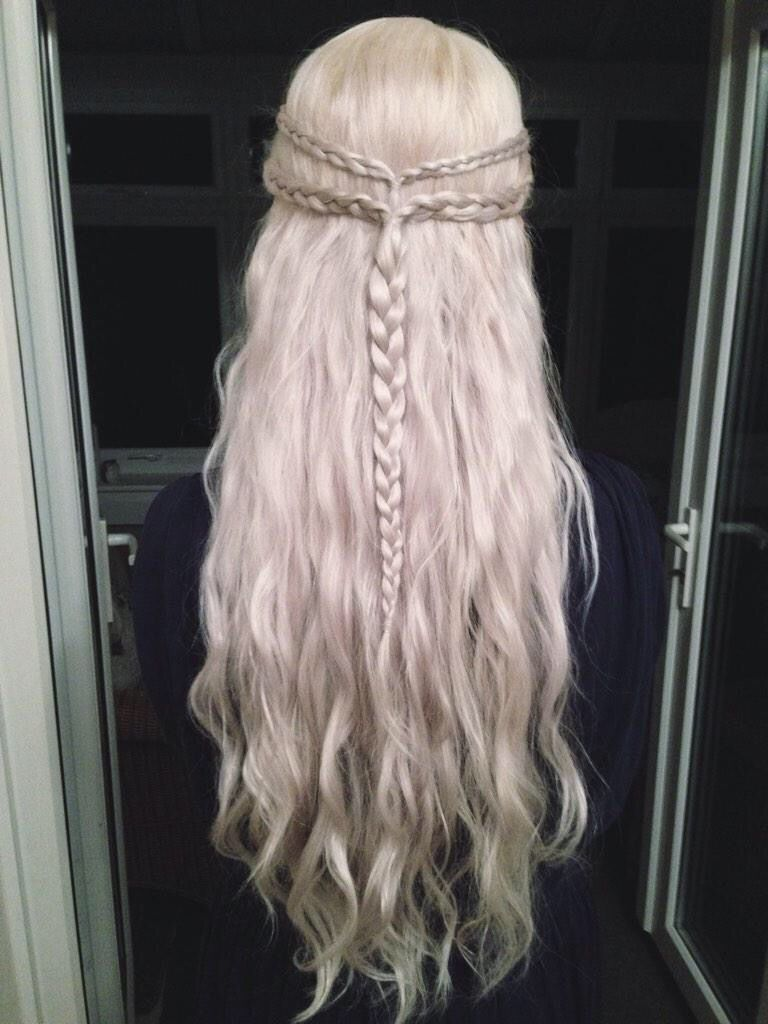 Best 25 Khaleesi Hair Ideas On Pinterest Grey Hair