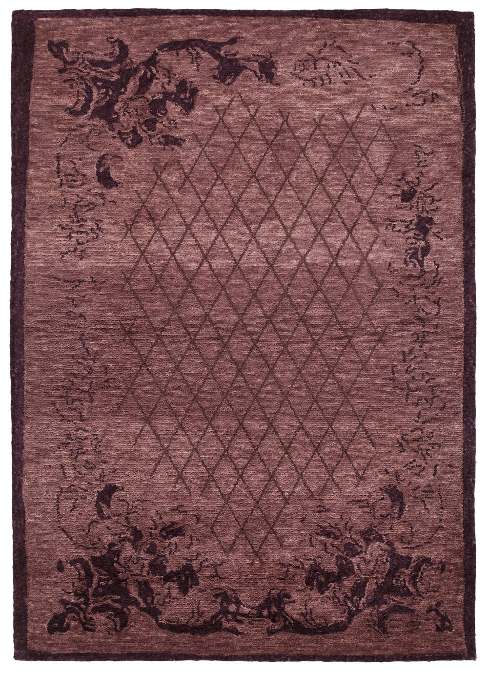 Fiorella Rug By Stepevi From The Rococo Collection Color Mulberry Mirage Quality Rugs On Carpet Rugs Rococo