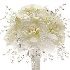 Frostbitten White Gardenia Wedding Bouquet With Daisy Flower