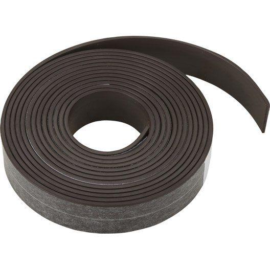 Aimant En Plastique En Rouleau Adhesif 2 5mx19 Mm Rouleau Adhesif Aimant Magnetique Plastique