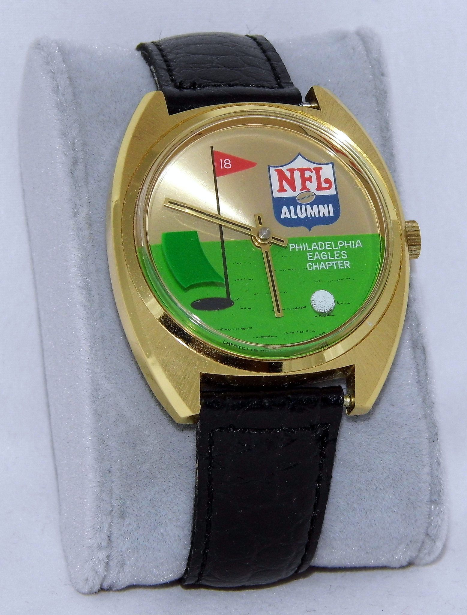 Vintage Nfl Alumni Golf Tournament Watch Philadelphia Eagles Chapter Swiss Made By The Lafayette Watch Company Manual Wind Movement Golf Ball Rotates Around Philadelphia Eagles Watch Companies Golf Tournament
