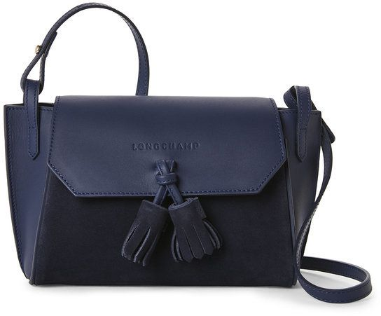 0bf38237d Longchamp Blue Pénélope Soft Leather Crossbody Longchamp, Leather Crossbody,  Soft Leather, Handbag Accessories