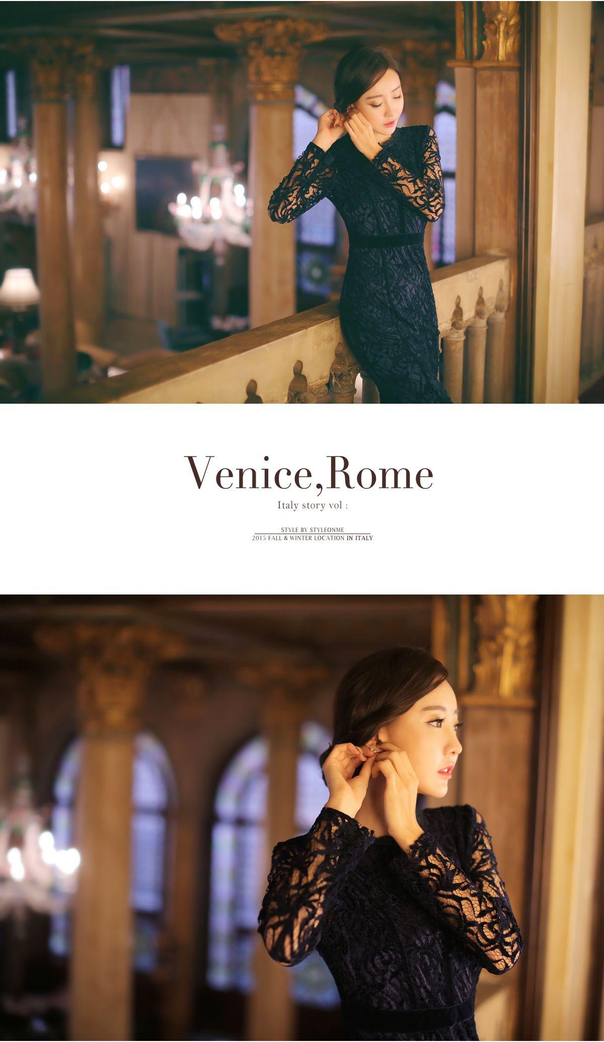 Styleonme_Elegant Velvet Laced Dress #elegant #dress #seethrough #lace