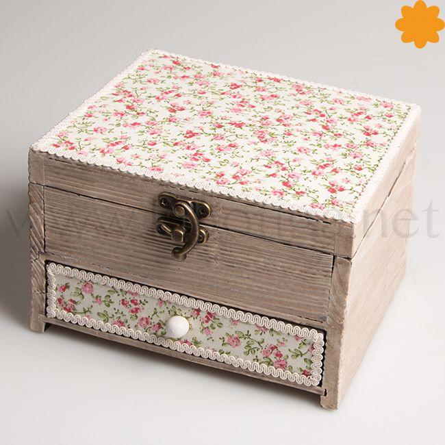 Ditsy Floral Daisy Wooden Jewellery Box With Drawer. & Una cajita preciosa que es un #joyero ideal para chicas #chic ... Aboutintivar.Com