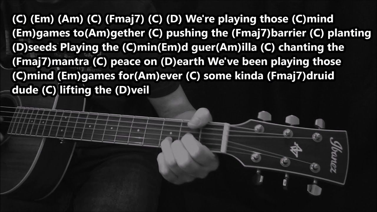 Mind Games John Lennon Acoustic Cover Lesson With Lyrics And Chords In 2020 Lyrics And Chords Acoustic Covers Mind Games