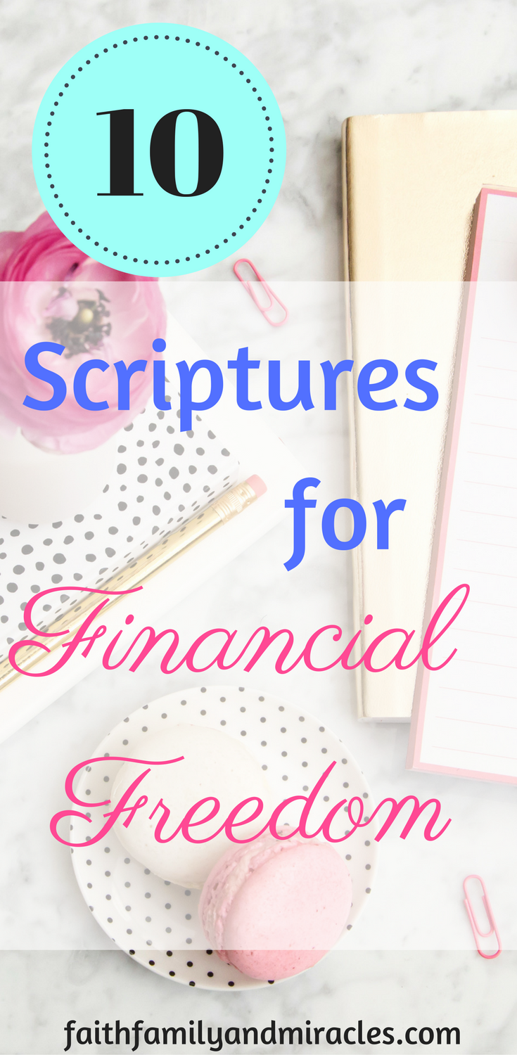 10 Scriptures For Financial Freedom Financial Freedom Scripture Financial