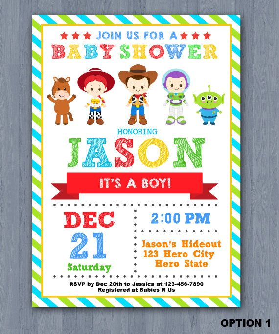 Toy Story Baby Shower Invitation Toy Story baby invitation Toy
