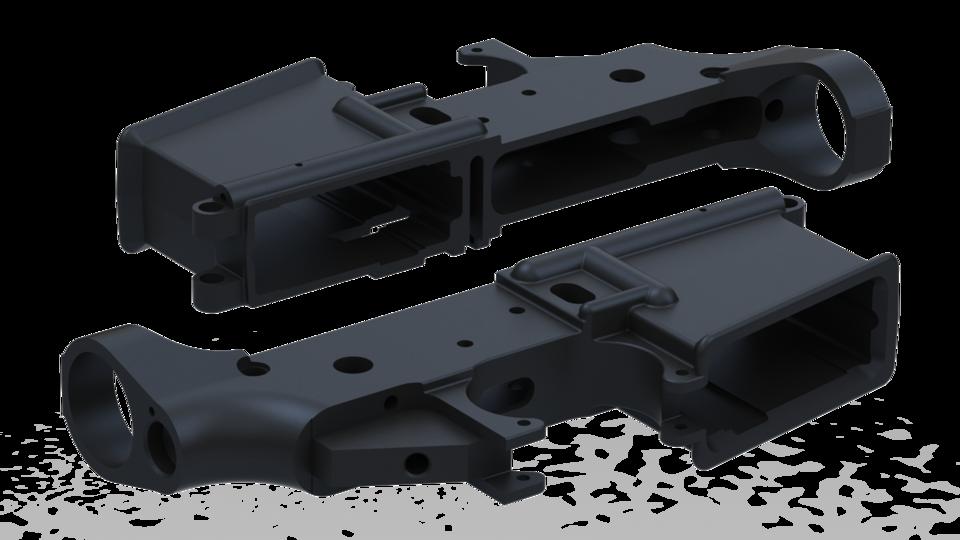 AR-15 Lower SolidWorks Native - SOLIDWORKS - 3D CAD model - GrabCAD