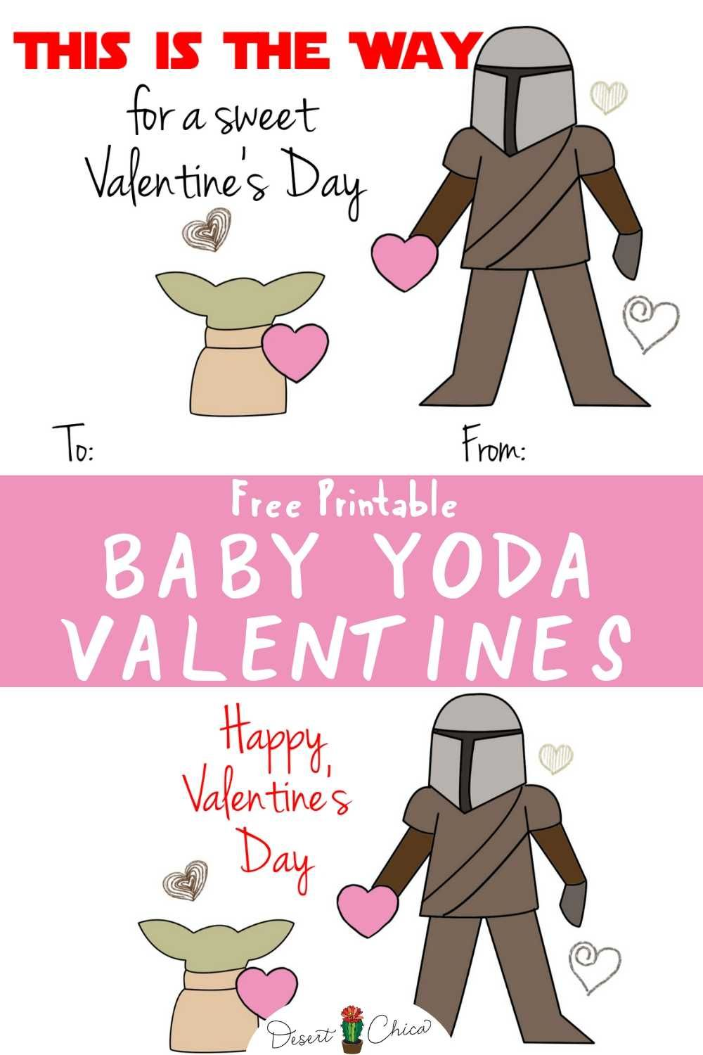 Happy Valentine S Day From Baby Yoda And Mando Star Wars Valentines Yoda Valentine Cards Starwars Valentines Cards