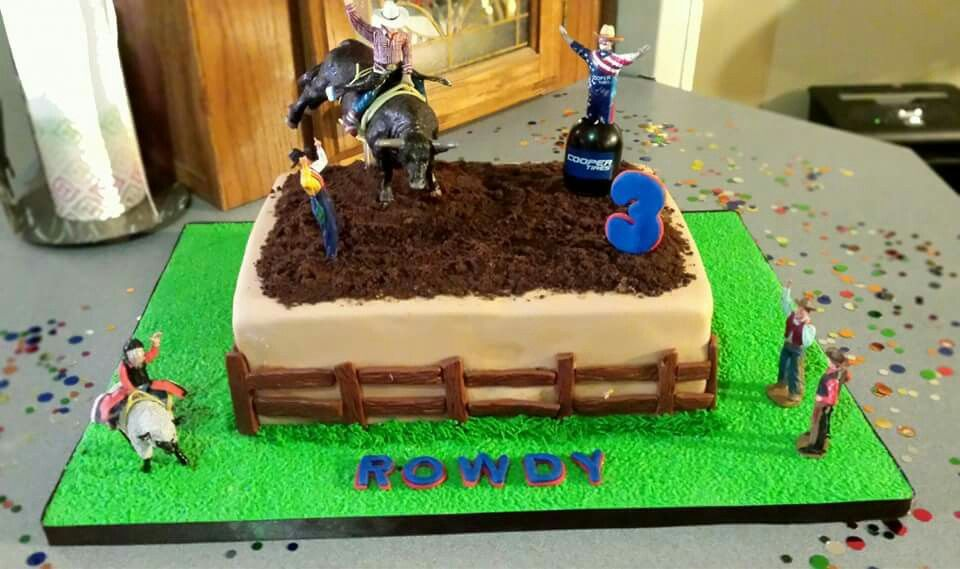 Incredible Bull Riding Sheet Cake Baby Birthday Cakes Cowboy Birthday Funny Birthday Cards Online Inifofree Goldxyz
