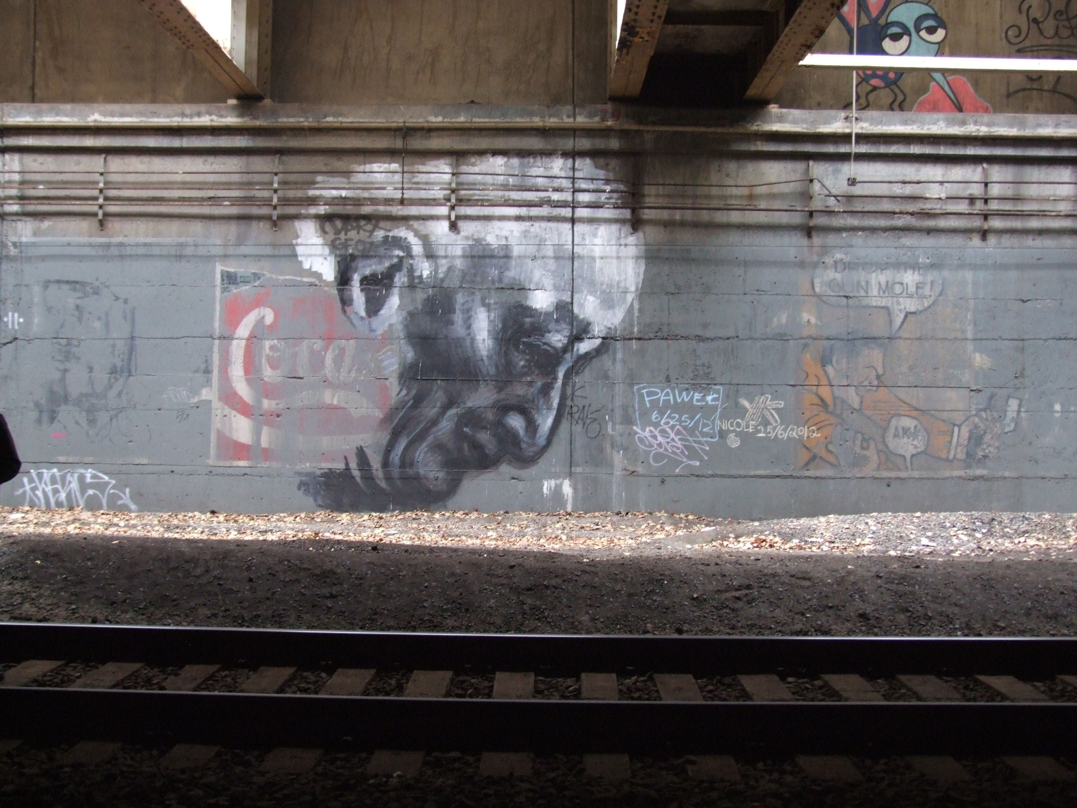 Portrait Of Mayor Ed Koch Down In Freedom Tunnel Painting Graffiti Art